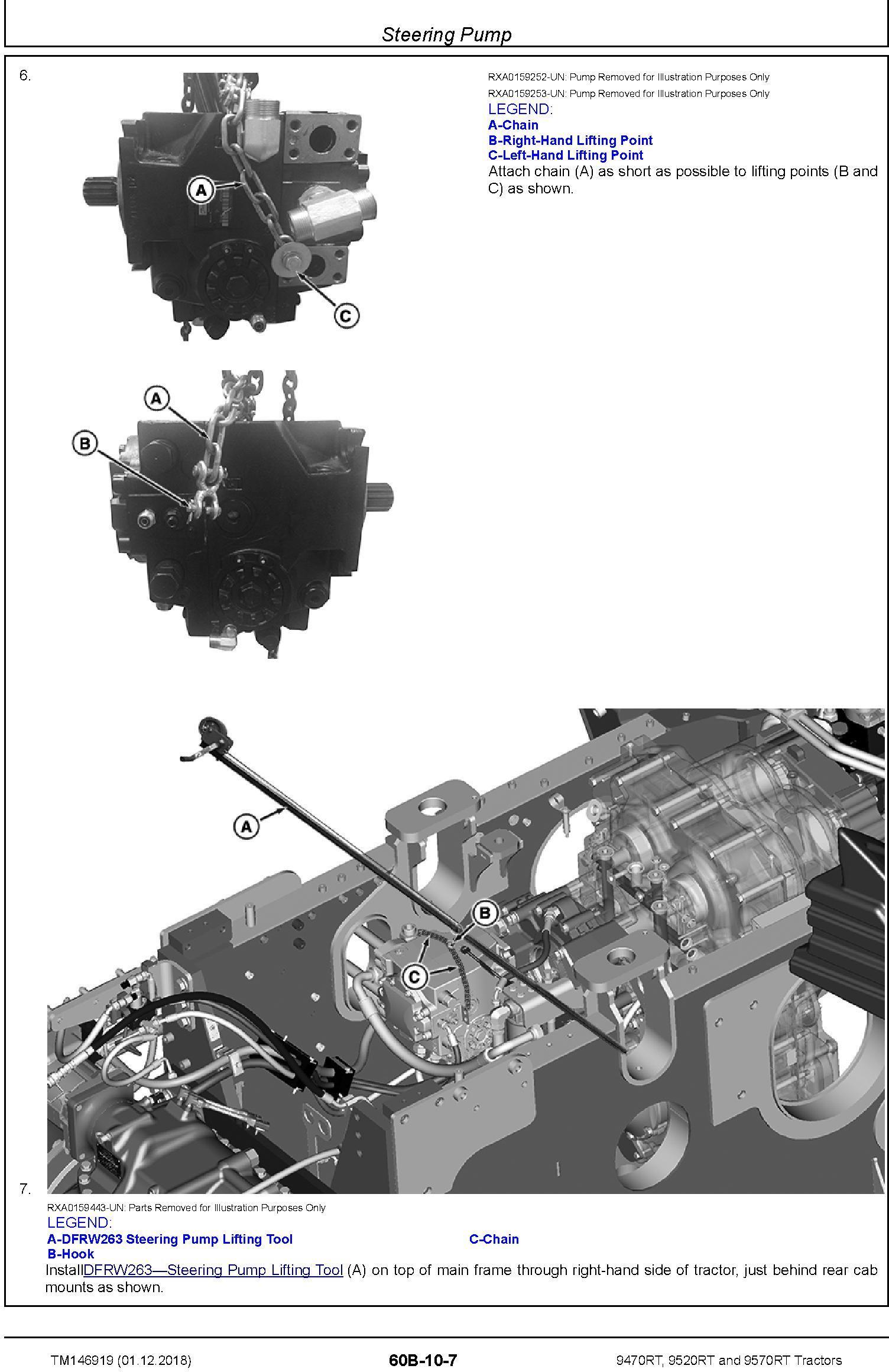 John Deere 9470rt  9520rt And 9570rt Tractors  Sn  917000