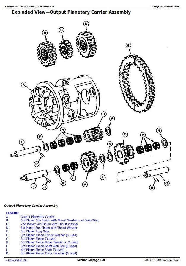 John Deere 7610, 7710, 7810 2WD or MFWD Tractors Service Repair Technical Manual (TM1651) - 2