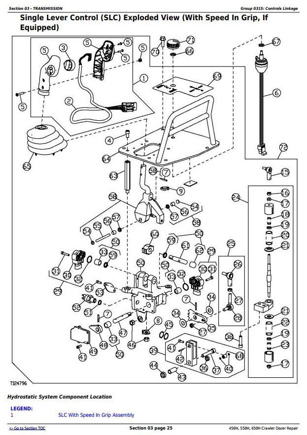 John Deere 450h  550h  650h Crawler Dozer Service Repair