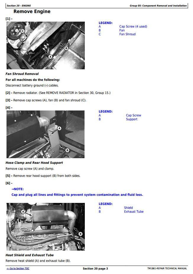 John Deere 4710 Self-Propelled Sprayer (SN. from 004001) Service Repair Technical Manual (TM1861) - 1