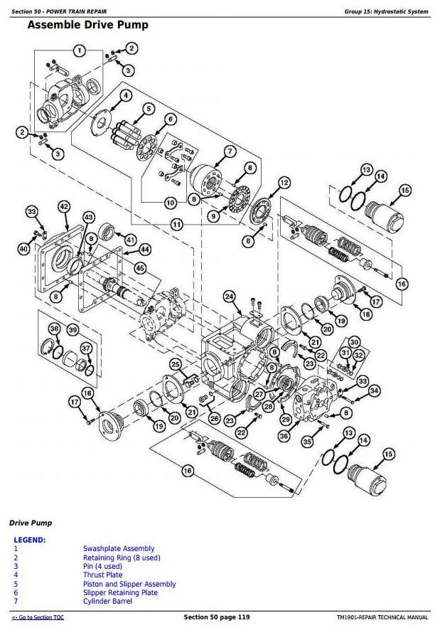 John Deere 9650 STS (-695500) , 9750 STS (-695600) Combines Service Repair Technical Manual (TM1901) - 2