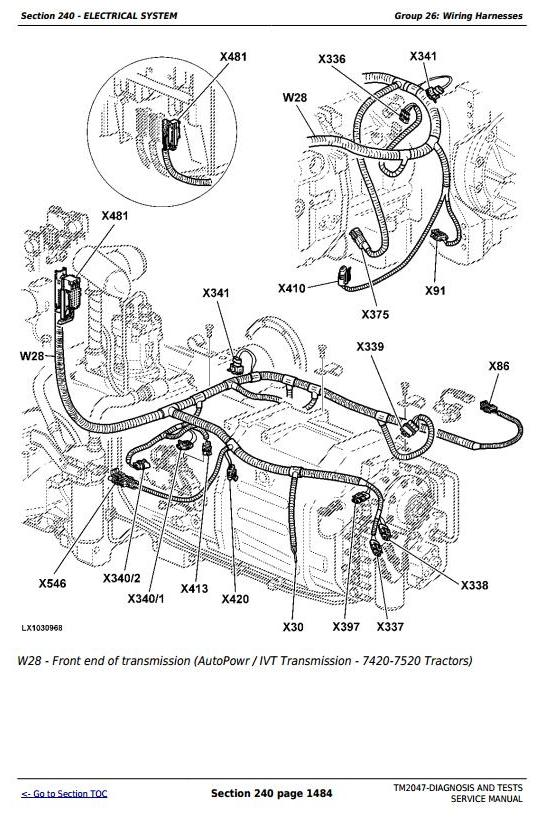Astonishing John Deere 7220 7320 7420 7520 2Wd Or Mfwd Tractors Diagnosis And Wiring 101 Ferenstreekradiomeanderfmnl