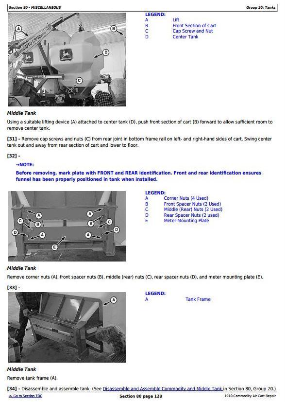 John Deere 1910 Commodity Air Cart Ground Drive Service Repair