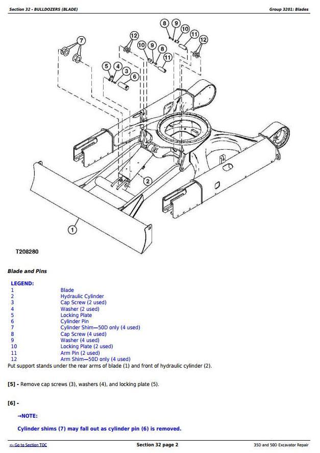 John Deere 35d And 50d Compact Excavator Service Repair