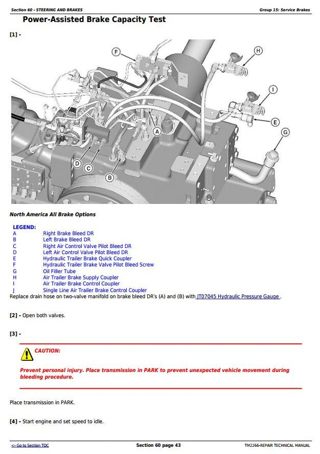 John Deere 7630 7730 7830 7930 & 2204 2WD or MFWD Tractors Service Repair Manual (TM2266) - 1
