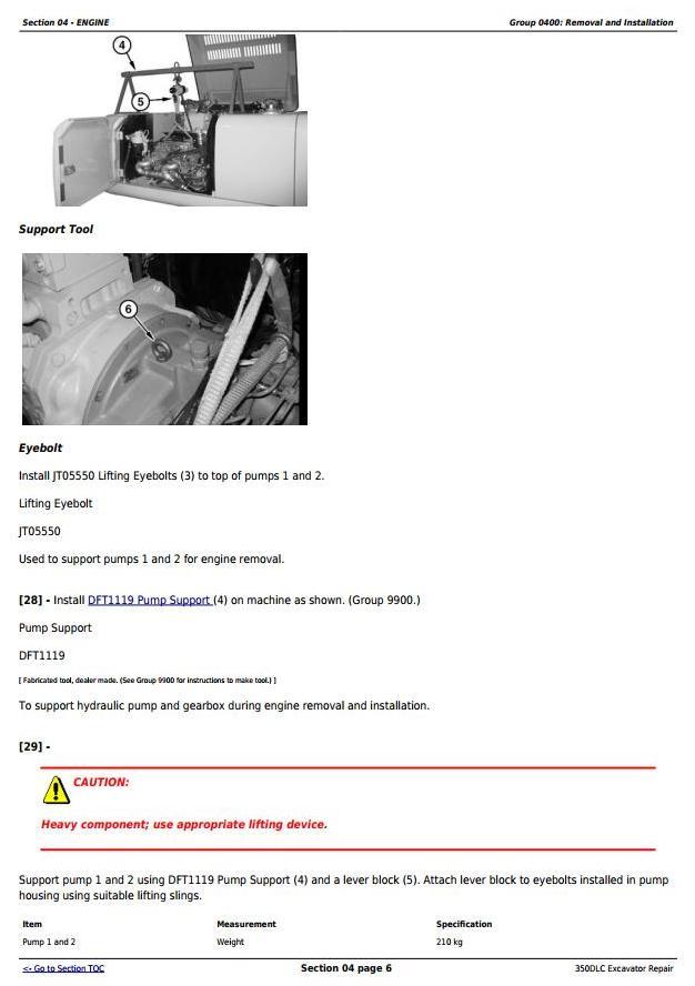 John Deere 350DLC Excavator Service Repair Technical Manual (TM2360) - 1