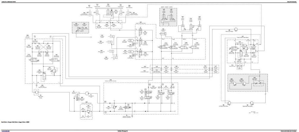 John Deere Combines W540, W550, W650, W660, T550, T560, T660, T670 w.Wide Cab Diagnostic (TM404119) - 1