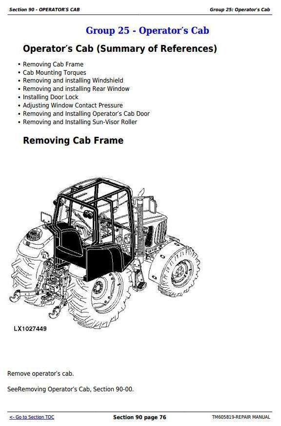 John Deere 7425, 7525, 6140J, 6155J, 6155JH Tractors Service Repair Manual (TM605819) - 2