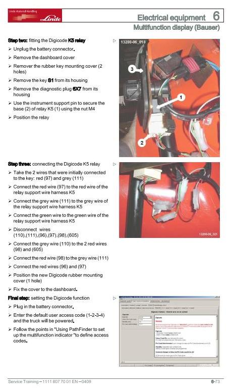 Linde N20VI, N20VLI Order Picker 1111 Series Service Training (Workshop) Manual - 2