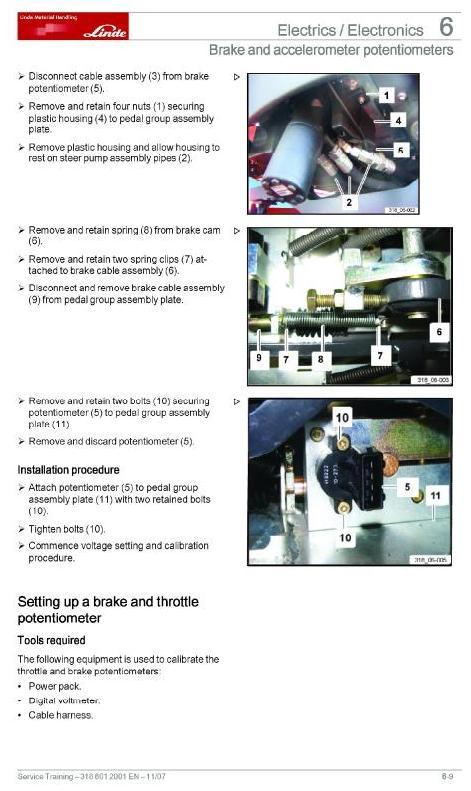 Linde C90-5, C90-6, C90-7, C90-8 Container Handler 318 Series Service Training (Workshop) Manual - 1