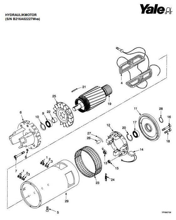 Yale ERP20ALF, ERP25ALF, ERP30ALF Electric Forklift Truck B216 Series Parts Manual (Europe) - 2