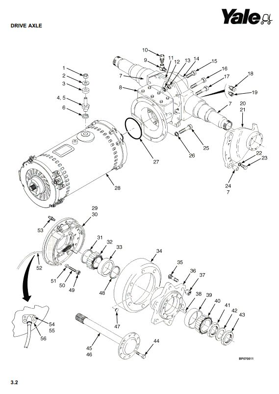 Yale ERC35HG, ERC40HG, ERC45HG, ERC55HG Electric Forklift Truck B839 Series Parts Manual (Europe) - 3
