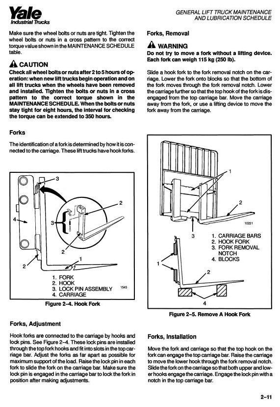 Yale ERC030AF, ERC040AF, ERP030AF, ERP040AF Electric Lift Truck Workshop Service Maintenance Manual - 1