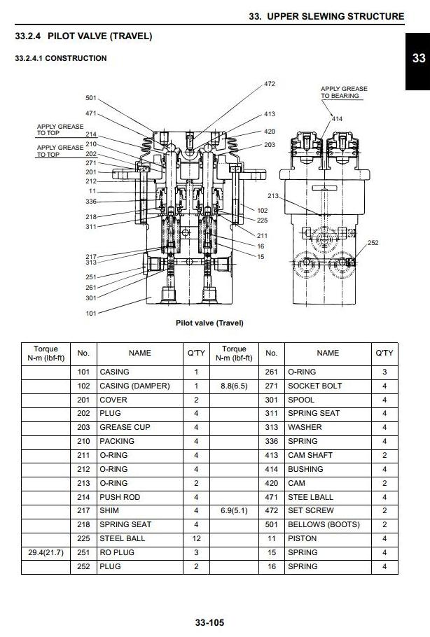 Case CX31B, CX36B Mini Excavators Workshop Service Manual - 1