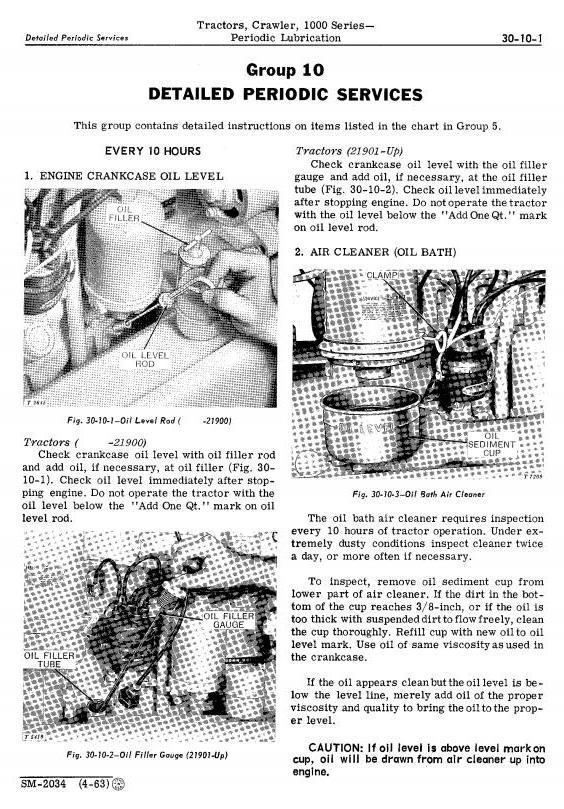 John Deere 1010 Crawler Tractors Technical Service Manual (sm2034) - 2