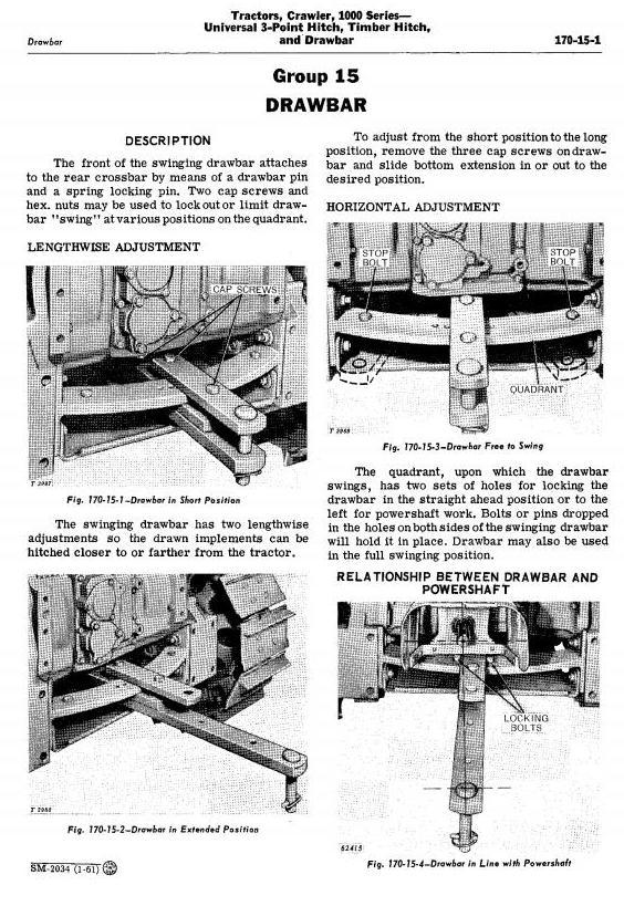 John Deere 1010 Crawler Tractors Technical Service Manual (sm2034) - 1