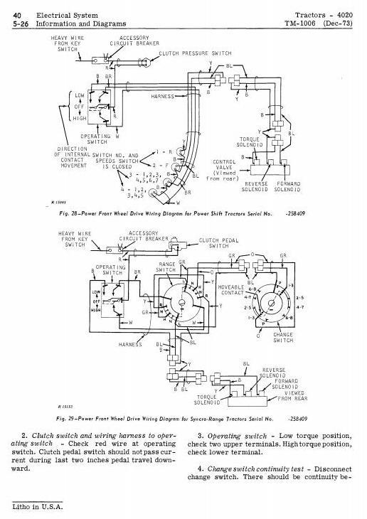 John Deere 4000, 4020 Tractors Diagnostic and Repair ... on john deere 265 wiring diagram, john deere b tractor wiring diagram, john deere 317 wiring diagram, john deere 3020 wiring diagram, john deere generator wiring diagram, john deere 318 pto parts diagram, john deere 112 electric lift wiring diagram, john deere l120 pto wiring diagram, john deere 4020 starter wiring, john deere model a wiring diagram, wiring diagram for john deere 630 tractor, john deere gator ignition wiring diagram, john deere solenoid wiring diagram, john deere 4020 battery wiring, john deere 3010 hydraulic diagram, john deere 400 wiring diagram, john deere diesel injector pump diagram, john deere 4020 light wiring, john deere 110 wiring diagram, john deere wiring harness diagram,