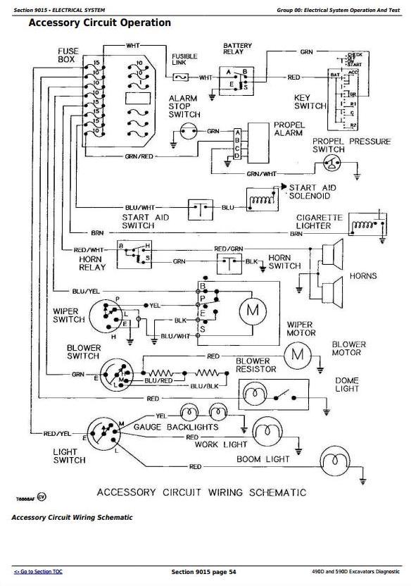 John Deere 490D and 590D Excavator Diagnostic, Operation and Test Service Manual (tm1389) - 1