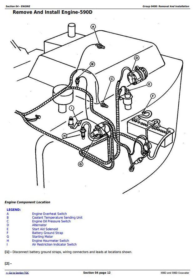John Deere 490D and 590D Excavator Service Repair Technical Manual (tm1390) - 1
