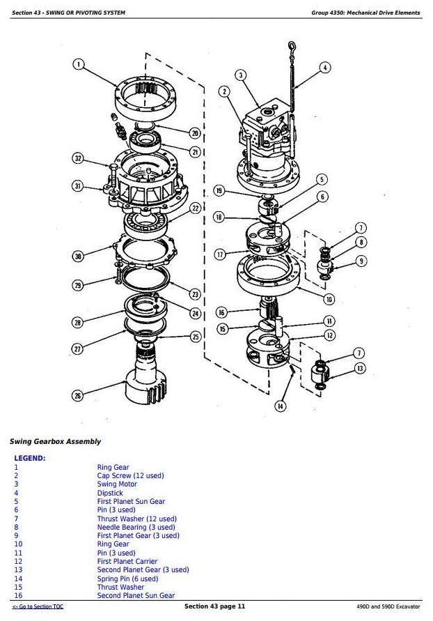 John Deere 490D and 590D Excavator Service Repair Technical Manual (tm1390) - 3