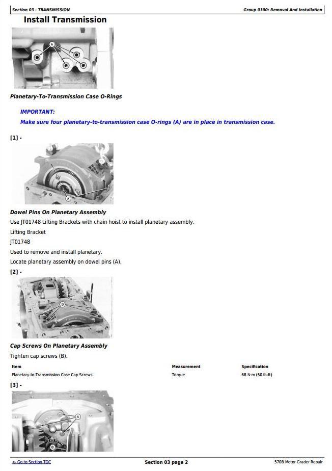 John Deere 570B Motor Grader Service Repair Technical Manual (tm1400) - 2