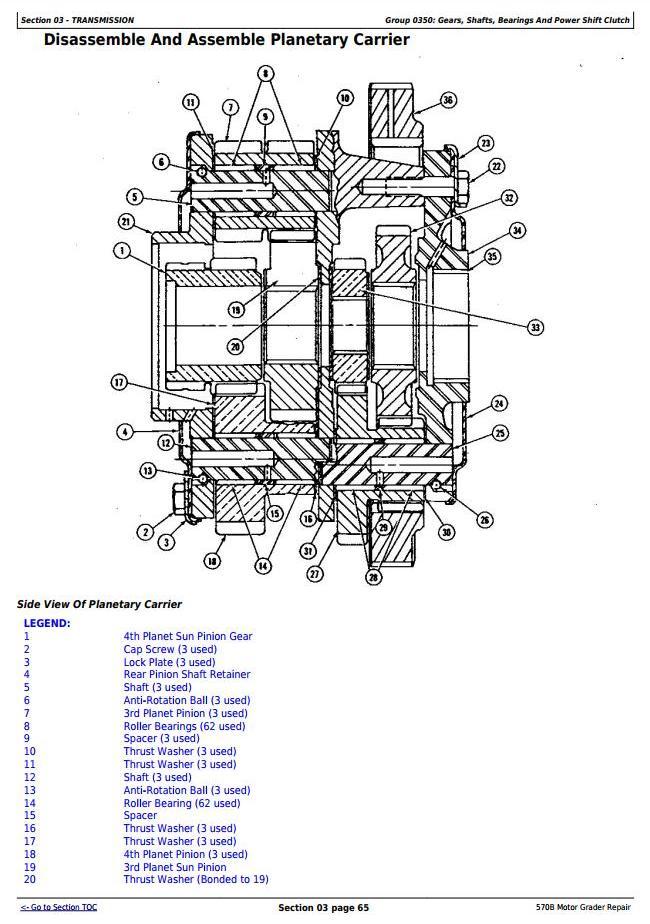 John Deere 570B Motor Grader Service Repair Technical Manual (tm1400) - 3