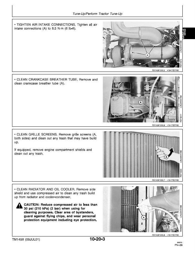 John Deere 4055, 4255, 4455 Tractors Service Repair Technical Manual (tm1458) - 3
