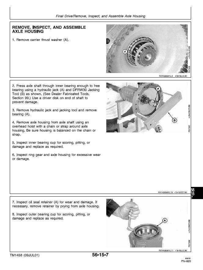 John Deere 4055, 4255, 4455 Tractors Service Repair Technical Manual (tm1458) - 2