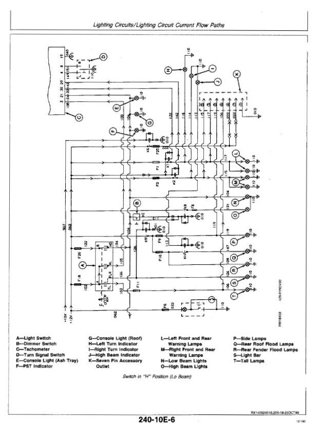 John Deere 4055, 4255, 4455 Tractors Diagnosis and Tests ... on 314 john deere ignition wiring diagram, john deere gator parts diagram, john deere voltage regulator wiring diagram, john deere starter solenoid wiring diagram, john deere battery wiring diagram, john deere starter relay wiring diagram, john deere generator wiring diagram,