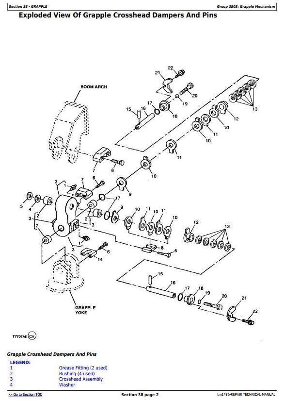 John Deere 540e  640e  740e Cable Skidder  548e  648e