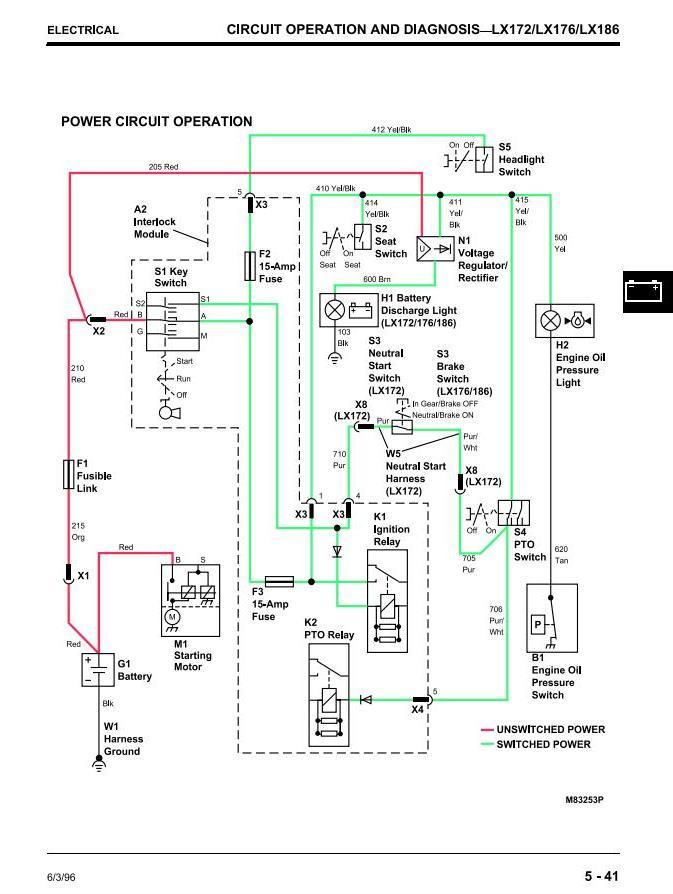[QMVU_8575]  John Deere LX172, LX173, LX176, LX178, LX186, LX188 Riding Lawn Tractors  Technical Service Manual TM1492 / Truck Service Manual Store | John Deere Lx173 Wiring Diagram |  | Berlogic