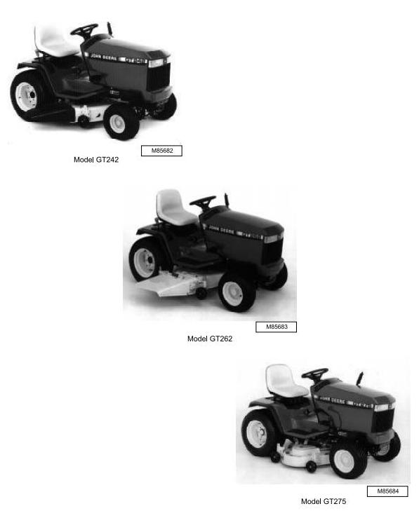 John Deere GT242, GT262 & GT275 Lawn and Garden Tractors All ... on john deere garden tractor wiring diagram, john deere x475 wiring diagram, john deere f725 wiring diagram, john deere z820a wiring diagram, john deere x304 wiring diagram, john deere x720 wiring diagram, john deere x495 wiring diagram, john deere f735 wiring diagram, john deere la165 wiring diagram, john deere lt180 wiring diagram, john deere lx280 wiring diagram, john deere g100 wiring diagram, john deere 355d wiring diagram, john deere lx279 wiring diagram, john deere la115 wiring diagram, john deere gx335 wiring diagram, john deere x534 wiring diagram, john deere lx173 wiring diagram, john deere gt245 wiring diagram, john deere gt225 wiring diagram,