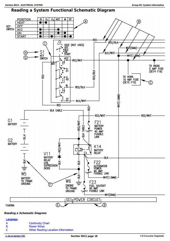 John Deere 110 Excavator Diagnostic Operation and Test Service Manual (tm1657) - 1