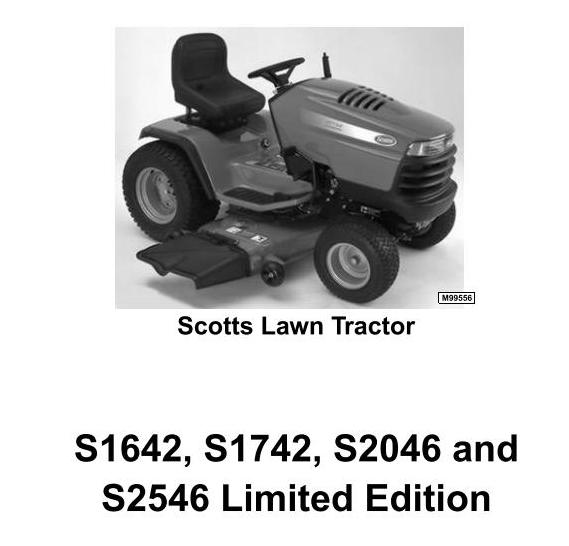 John Deere Scotts S1642, S1742, S2046, S2546 Limited Edition Lawn Tractors () Technical Manual (tm1776) - 3