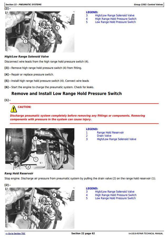 John Deere BELL B35C and B40C Articulated Dump Truck Service Repair Technical Manual (tm1816) - 2