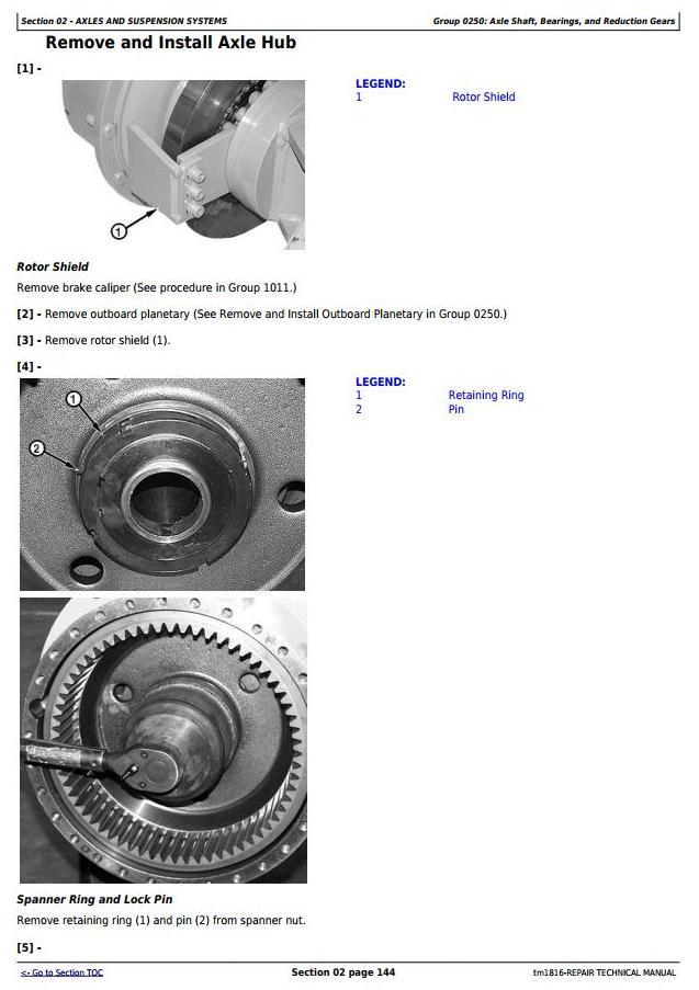 John Deere BELL B35C and B40C Articulated Dump Truck Service Repair Technical Manual (tm1816) - 3
