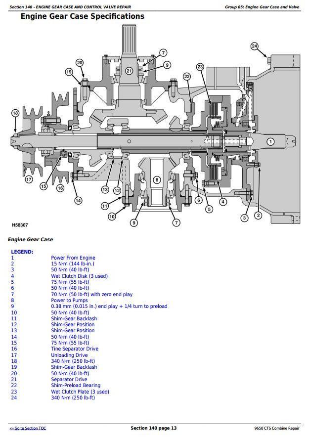 John Deere 9650CTS Combine Service Repair Technical Manual (tm1821) - 1