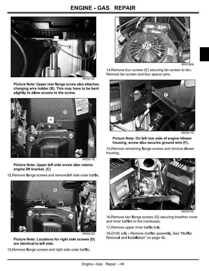John Deere G100, G110 Lawn and Garden Tractors (North ... on john deere g100 motor, john deere g100 parts diagram, john deere g100 oil filter, john deere g100 accessories, john deere g100 steering, john deere g100 tires, john deere g100 headlight,