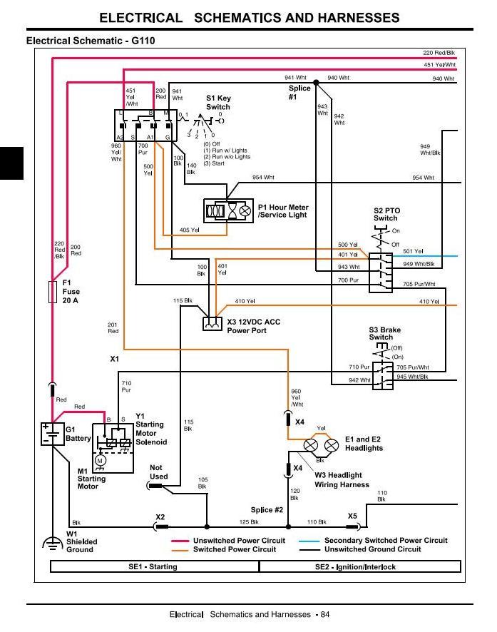 John Deere G100, G110 Lawn and Garden Tractors (North ... on john deere l110 wiring diagram, john deere la110 wiring diagram, john deere lt133 wiring diagram, john deere 190c wiring diagram, john deere lx277 wiring diagram, john deere lx178 wiring diagram, john deere 110 wiring diagram, john deere gt235 wiring diagram, john deere lt160 wiring diagram, john deere x595 wiring diagram, john deere lx173 wiring diagram, john deere l120 wiring diagram, john deere gt262 wiring diagram, john deere la105 wiring diagram, john deere mower wiring diagram, john deere x485 wiring diagram, john deere la145 wiring diagram, john deere d170 wiring diagram, john deere ignition wiring diagram, john deere la115 wiring diagram,