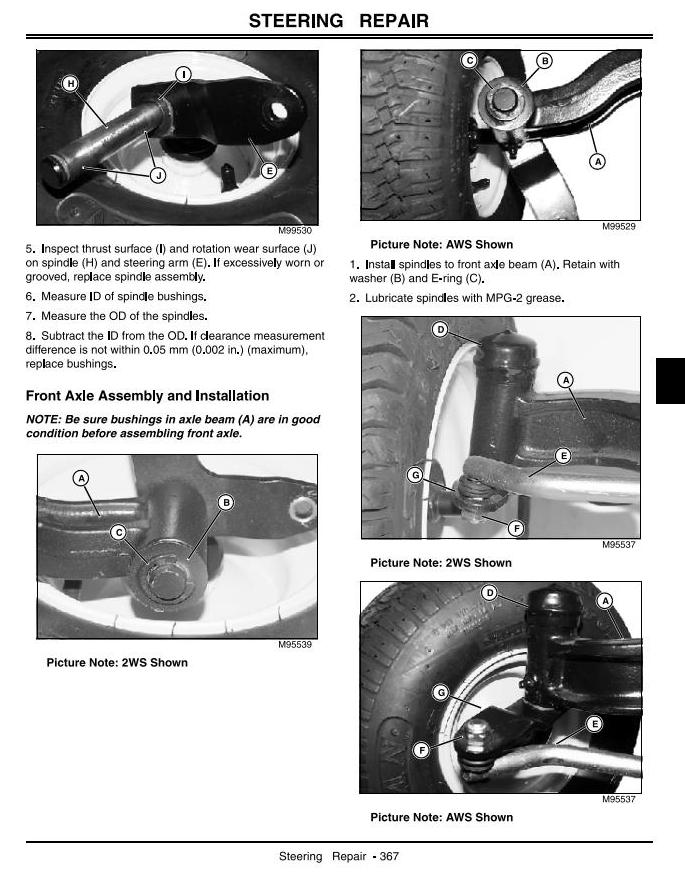 John Deere LX280, LX280AWS, LX289 (SN.100001-) Lawn Tractors ... on