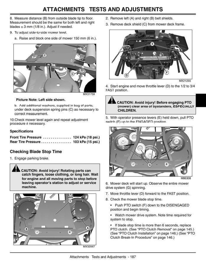 John Deere Commercial Walk-Behind Mower 7G18 (SN.020001-) Diagnostic, Repair Technical Service Manual (tm2220) - 3