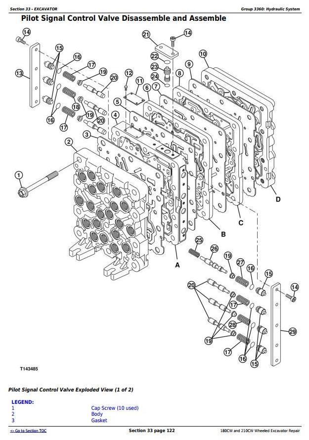John Deere 180CW and 210CW Wheeled Excavator Service Repair Manual (tm2287) - 2