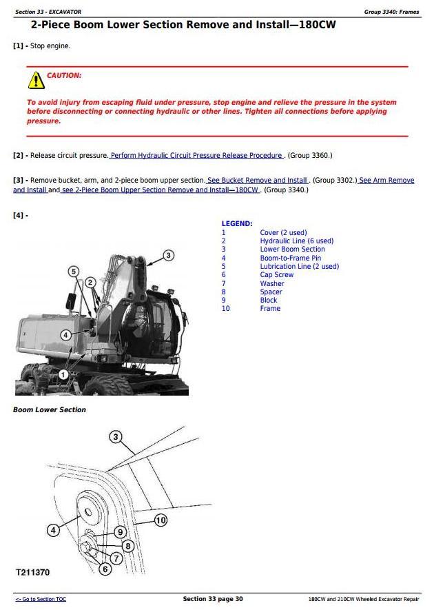 John Deere 180CW and 210CW Wheeled Excavator Service Repair Manual (tm2287) - 3