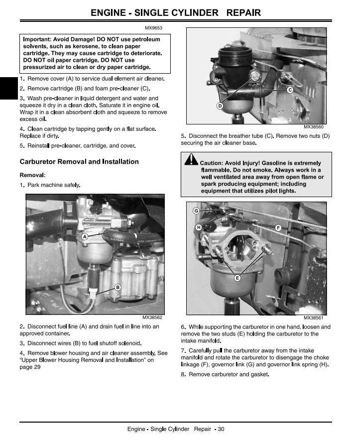 John Deere X110, X120, X140 Lawn Tractors (EXPORT) Diagnostic and Repair Technical Service Manual TM2373 - 1