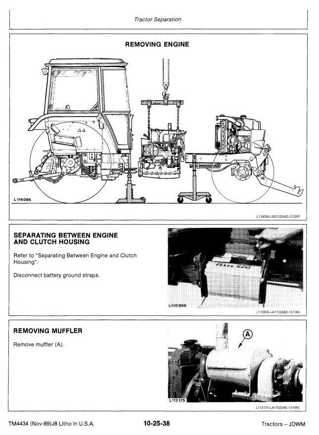 John Deere 2355  2555  2755  2855n Tractors Service Repair