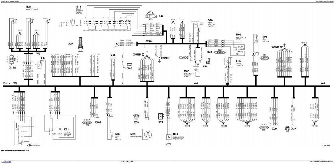 [SCHEMATICS_4ER]  John Deere 6100, 6200, 6300, 6400 Early Tractors Electrics Diagnistic  Service Manual (tm4487elec) / Truck Service Manual Store | John Deere 6400 Wiring Diagram |  | Berlogic