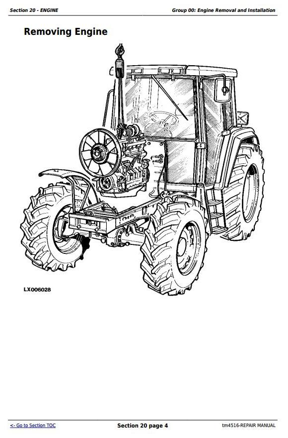 John Deere Tractors 6800 And 6900 Service Repair Technical