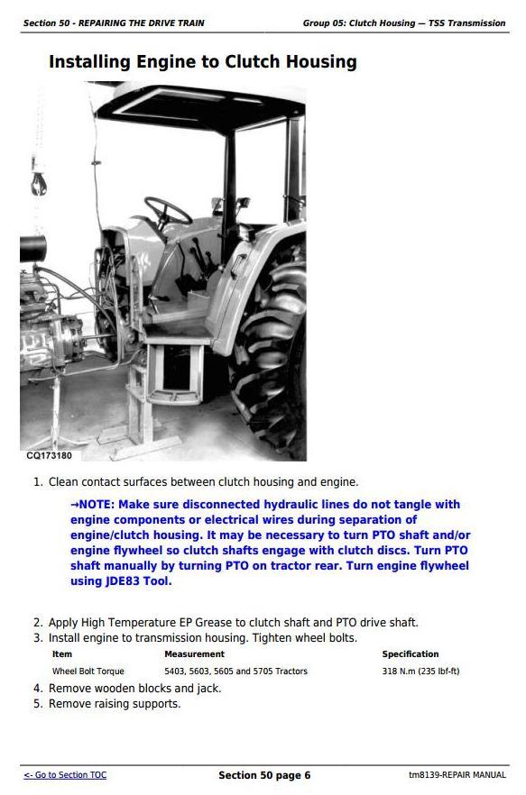 John Deere John Deee Tractors 5403, 5600, 5603, 5605, 5700 and 5705