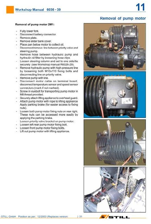 Still R60-20, R60-22, R60-25, R60-30, R60-35, R60-40, R60-45, R60-50 Forklift Truck Workshop Manual - 2