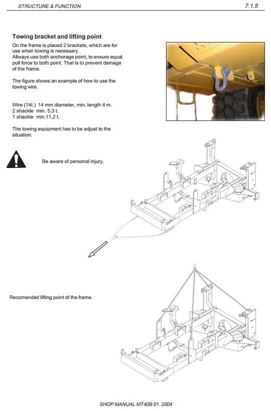 Doosan / Moxy MT40B Articulated Dump Truck Workshop Service Manual - 3
